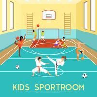 Poster de crianças Sportroom vetor