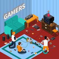 Modelo isométrico de gadgets de jogos vetor