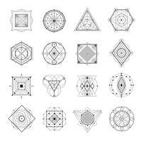 Conjunto de geometria sagrada vetor