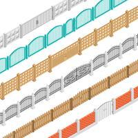 Cercas e portões isométricos