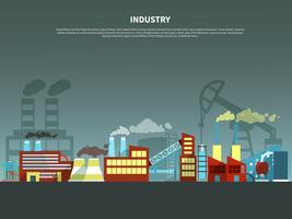 Ilustração em vetor conceito indústria