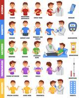 Doenças e cartaz da medicamentação