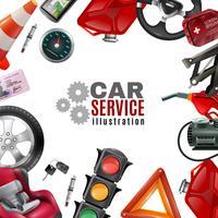 Modelo de serviço de carro vetor