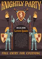 Cartaz heráldico do cavaleiro vetor