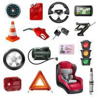 Conjunto de manutenção de carro vetor