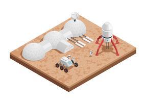 Composição isométrica de espaço de foguete