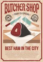 Cartaz da loja de carniceiro vetor