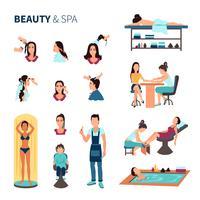Conjunto de Spa de salão de beleza vetor