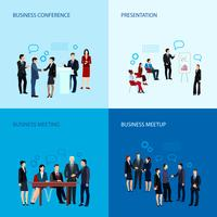 Reunião e conceito de conferência vetor