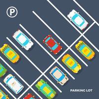 Cartaz do estacionamento vetor