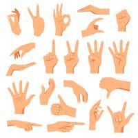 Conjunto de mãos vetor