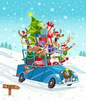 Cartão de presente de Natal dos desenhos animados