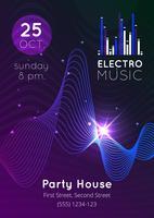Cartaz de equalizador de áudio de música