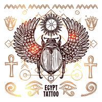 Ilustração de tatuagem oculta do Egito vetor