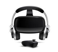 Imagem realista de fone de ouvido de fone de ouvido de VR vetor