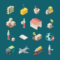 Conjunto de ícones de logística vetor