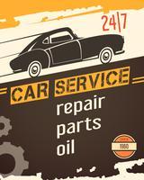 Auto serviço Vintage Style Poster vetor