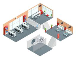 Design de interiores do banco vetor
