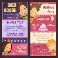 Banners de convite de festa de crianças