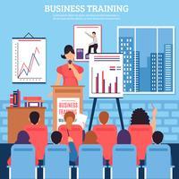 Modelo de treinamento de negócios vetor