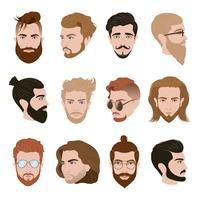 Homens penteado coleção