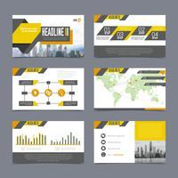 Conjunto de modelos de apresentação de empresa vetor