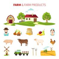 Conjunto Agrícola vetor