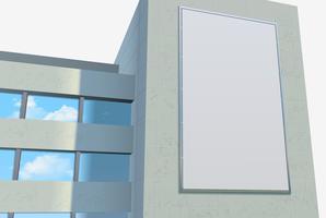 Modelo de cartaz promocional vetor