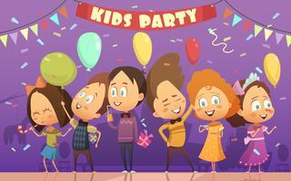 Ilustração de festa de crianças vetor