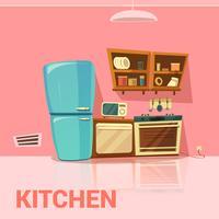 Design retrô de cozinha