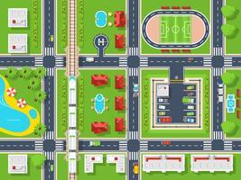 City Map Vista de cima