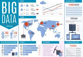Infografia de processamento de dados vetor