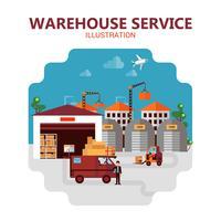 Ilustração de serviço de armazém