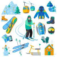 Ícones da estância de esqui