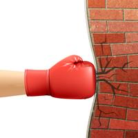 Boxing Gloves Sport Acessórios Anúncio Ilustração vetor