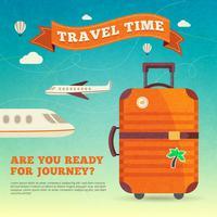 Poster de ilustração de viagens
