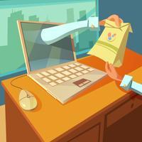 Ilustração de médico on-line vetor