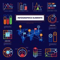 Cartaz de elementos infográfico vetor