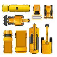 Máquinas de construção Top View