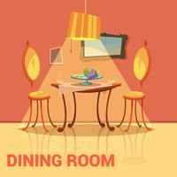 Projeto retro da sala de jantar vetor