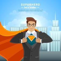 Conceito de empresário de super herói vetor