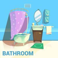 Design retrô de banheiro