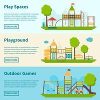 Banners de conceito de recreio
