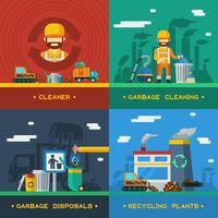Conceito de Design 2x2 de remoção de lixo