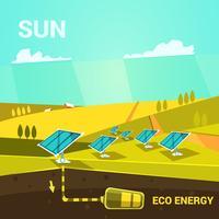 Cartoon de energia ecológica