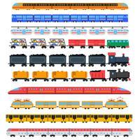 Trem, ícones, jogo vetor