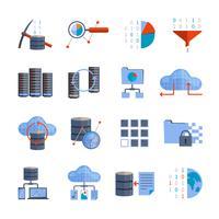 Ícones de processamento de dados vetor