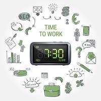 Composição do Tempo para o Trabalho vetor