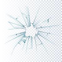 Ícone realista quebrado vidro fosco vetor