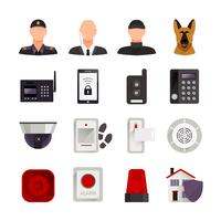 Ícones de segurança em casa